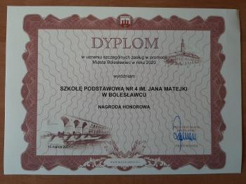 Nagroda honorowa - promocja miasta